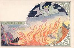 Illustrateur Lessieux Art Nouveau 1900 La Walkyrie Chevauchée Valkyries Ride- Braunschweig Carte Précurseur - Lessieux
