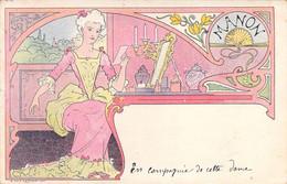 Illustrateur Lessieux Art Nouveau 1900 Manon à Sa Table De Toilette  Carte Précurseur - Lessieux