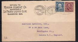 Sur Enveloppe Russia Cement Co. Pour Londres CAD Gloucester 1899. CAD London F.C. AC . - Marcophilie