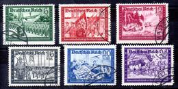 Alemania Imperio Serie Nº Yvert 697/02, Nº Michel 773/78 O - Gebraucht