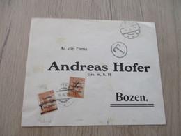Autriche Italie Collection Spécialisée Lettre Italie Venezia Tridentina Valeurs Heller N°30 X2   Pour Bozen Taxée - Austrian Occupation