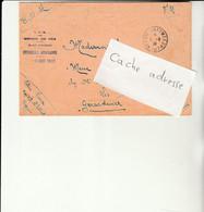 CB - Enveloppe Avec Cachet Trésor Et Postes N°407 - Hôpitall Militaire Ouezzant (Maroc) - Militaire Stempels Vanaf 1900 (buiten De Oorlog)
