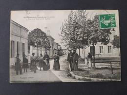 Saint Médard De Guizières - Place Et Rue Du 14 Juillet / Edition Poupard - Other Municipalities
