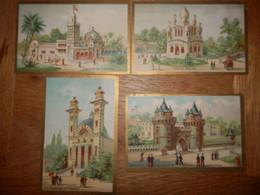 (36)   Lot De 4 Chromos Monuments - Chocolat Grimault Au Mans - Altri