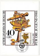 ALLEMAGNE - 4 Cartes Maximum - Instruments De Navigation - Berlin - 10/4/1981 - Maximumkarten (MC)