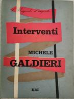 Interventi Di Michele Galdieri,  1956,  Eri - ER - Poesie