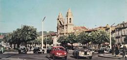 POSTCARD  PORTUGAL - BRAGA - PANORAMICO - OLD CARS - CLASSIC CAR - TAXI - Braga