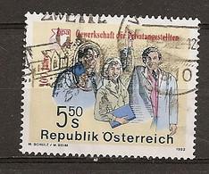 Autriche Austria 1992 Trade Union Obl - 1991-00 Oblitérés