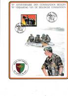 Cartes Souvenir 50 E Anniversaire Des Commandos Belges - Cartas Commemorativas