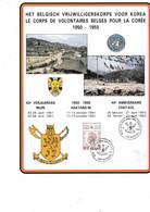 Cartes Souvenir Le Corps De Volontaires Belges Pour La Coree 1950-1955 - Cartas Commemorativas