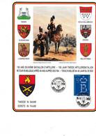 Cartes Souvenir 150 Ans Deuxieme Bataillon D Artillerie Retour En Belgique Apres 40 Ans Des Fba - Cartas Commemorativas
