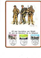 Cartes Souvenir 40 Ans De Liberation De La Belgique - Cartas Commemorativas