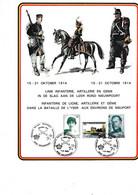 Cartes Souvenir Infanterie De Ligne Artillerie Et Genie Dans La Bataille De L Yser Aux Environs De Nieuport - Cartas Commemorativas