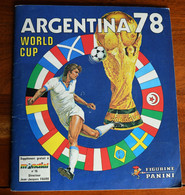 Album Panini Argentina 78 - Incomplet - French Edition