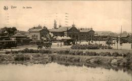 België - Yper Ieper - De Statie - Stoomtram - Tram - Station - 1916 - Non Classés