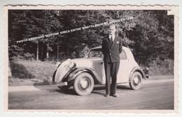 PHOTO ANCIENNE VOITURE SIMCA EN PASSAGE ENTRE MARTELANGE ET ARLON EN 1936 - Aarlen