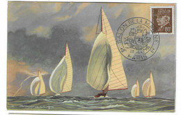 55 SM - SALON DE LA MARINE 1943 - VENT ARRIERE - Illustrateur L. HAFFNER -  Cachet à Date 29  Juillet 1943 - Posta Marittima