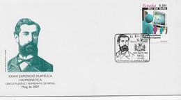 3636    Carta  Expo. Filatelica,. Ripoll 2007, Josep Maria Pellicer I Pagés - 2001-10 Storia Postale