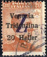 """Piece 1919, Bolzano 3, Lettera """"Z"""" Su Francobolli Della """"VENEZIA TRIDENTINA"""", 3 Valori, 20 H. Su 20 C. Assottigliamento  - Trentino"""