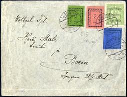 Cover 1918, I Tre Valori In Affrancatura Mista Con 5 Heller D' Austria Su Lettera Da Algund 22.11.1918 Per Bolzano, Sple - Merano