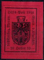 * 1918, I° Tipo, 10 Heller Carminio Lilla (Sass. 5 / 600,-) 1918, Type I Nach Sassone, 10 Heller Karminlila - Merano