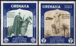 * 1934, Arte Coloniale, 12 Valori (Sass. 93-A29) - Cirenaica