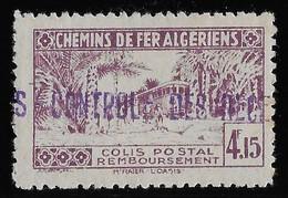 Algérie Colis Postaux N°105 (réf. Dallay) - Neuf * Avec Charnière - Rousseur Sinon TB - Parcel Post