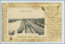 W2V71/ Ludwigshafen A. Rh. Hafenanlagen Prägedr.1905 - Non Classés