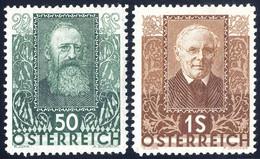 * 1931, Wohlfahrt: Österreichische Dichter, 6 Werte (Mi.524-29/ 80€,-) (Unif.399-404/ 120€,-) - Zonder Classificatie