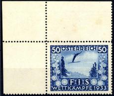 ** 1933, FIS I, 4 Werte, Jeweils Vom Eckrand, Falzspur Im Oberen Bogenrand U. Einige Rostflecken (ANK 551-554/ 700€,-) ( - Zonder Classificatie