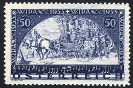 ** 1933, W.I.P.A., 50 + 50 Kr., Carta Normale, Cert. E. Diena, Unificato 430 / 340,- - Zonder Classificatie