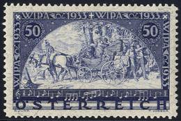 * 1933, W.I.P.A., 50+ 50 Kr., Carta Con Filo Di Seta, Unificato 430 A / 440,- - Zonder Classificatie