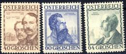 ** 1934, Baumeister, Sechs Werte, Postfrisch (ANK 591-96 / 180,-) - Zonder Classificatie