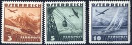 ** 1935, Flugpost, 15 Werte, Postfrisch (ANK 598-612 / 240,-) - Zonder Classificatie