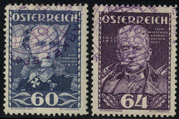 O 1935, Heerführer, 6 Werte, Mit Violettem Sonderstempel Entwertet (ANK 617-22/ 210€,-) (Unif.471-76/ 155€,-) - Zonder Classificatie