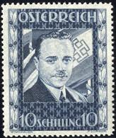 ** 1936, Dollfuss, 10 S. Dunkelblau, Attest Soecknick (ANK 588) - Zonder Classificatie
