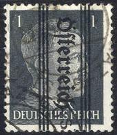 """O 1945, """"Grazer"""", 1 Pfg. Silbergrau, """"kopfstehender Aufdruck"""", Gestempelt, Kurzbefund Glavanovitz (ANK 674K) - Zonder Classificatie"""