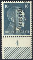 """** 1945, """"Grazer"""", 16 Pfg. Dunkelgrünblau Mit PF """"Österr"""" Schwach, Kurzbefund Glavanovitz (ANK 683) - Zonder Classificatie"""
