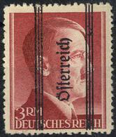 "* 1945, ""Grazer"", 3 RM Dunkelbraunrot, Magerer Aufdruck, PF ""fettes Ch"", Kurzbefund Glavanovitz (ANK 695II) - Zonder Classificatie"