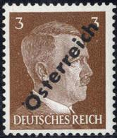 ** 1945, 3 (Pfg.) Gelbbraun, Abklatsch, Befund Soecknick, ANK (8) / 180,- - Zonder Classificatie