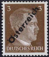 """** 1945, 3 (Pfg.) Gelbbraun, Aufdruckabart """"gespaltenes R"""", Attest Sturzeis, ANK (8)a / 160,- - Zonder Classificatie"""