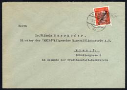 Cover 1945, 8 Pfg. Orangerot Auf Brief Von Wien Am 2.6. Entwertet Mit Versuchsklecks, ANK 662 - Zonder Classificatie