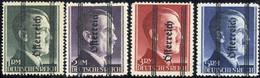 ** 1945, Grazer Aufdruck, 1 - 5 RM Mit Fettem Aufdruck, Attest Glavanovitz, ANK 693-696 I / 780,- - Zonder Classificatie
