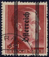 O 1945, Grazer Aufdruck, 3 RM Mit Fettem Aufdruck, LZ 12 : 13, Attest Glavanovitz, ANK 695 I / Ca 350,- - Zonder Classificatie