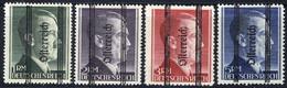 ** 1945, Grazer, Markwerte Mit Magerem Aufdruck, 4 Werte, Attest Glavanovitz (ANK 693-96II) - Zonder Classificatie