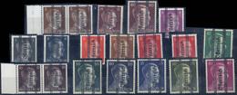 """** 1945, Grazer, Plattenfehler """"halbes Ch"""", Steckkarte Mit 15 Werten Und Zwei Paaren Alle Geprüft Glavanovitz (ANK Ex 67 - Zonder Classificatie"""