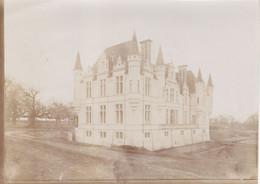BEAUPOUYET   CHATEAU DE FOURNILS PHOTO  ORIGINALE 18 SUR 13CM DEBUT 1900 - Otros Municipios