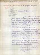 1944.remerciements Adressés Au Gouverneur Rapenne. Mme Barthélémi Directrice De L'Ecole De Filles.Cayenne.Guyane. - Other