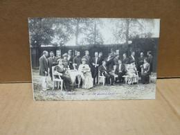 GUERRE 1914-18 CAMP DE PRISONNIERS DE SENNELAGER (Allemagne) Carte Photo Troupe Théatre - Paderborn