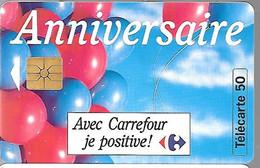 CARTE²-PUCE-PRIVEE-PUBLIC- 50U-GemA-2e Logo10/93-EN779F-CARREFOUR-VENISSIEUX-R°Glacé-N° Série B3A139001-UTILISE-TBE-RARE - 50 Unidades